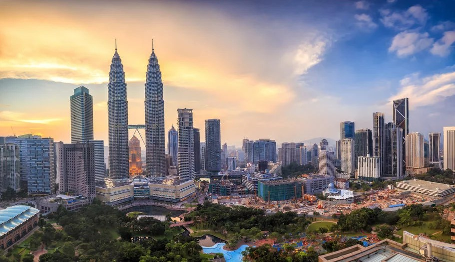 45903544 - top view of kuala lumper skyline at twilight