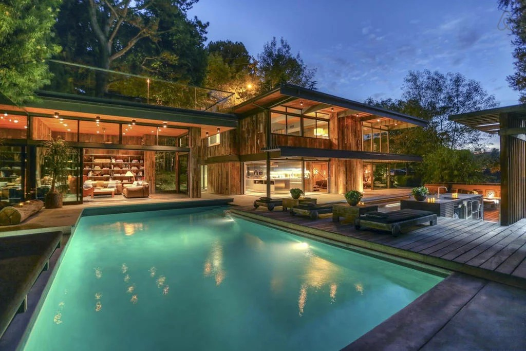 buff and hensman house hollywood hills pool from outside