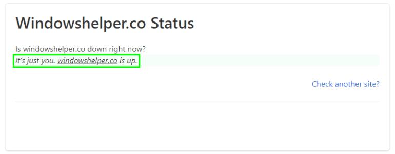 website status err_connection_refused