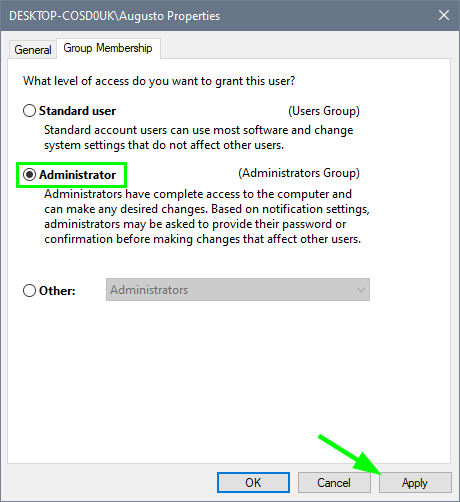 change user type to admin