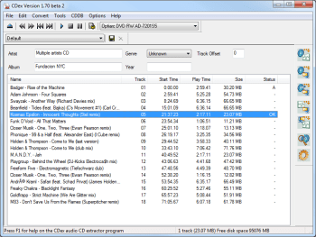 cdex free cd ripping software