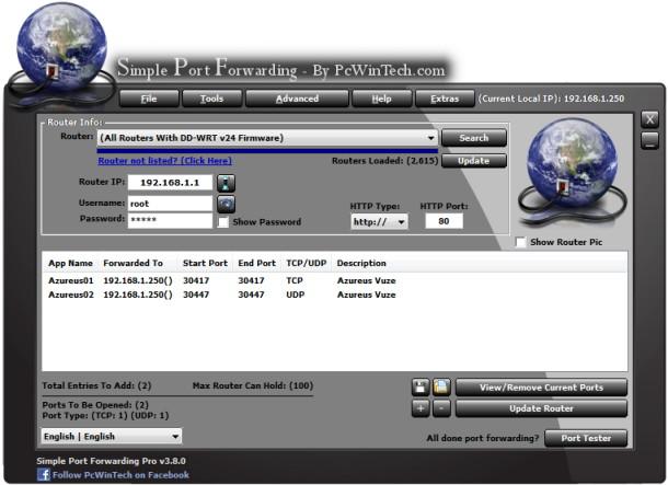 spf free port forwarding software