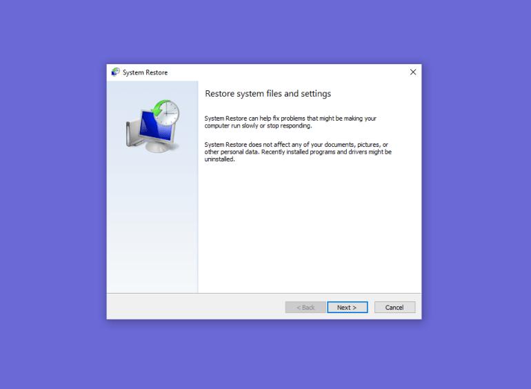 enable system restore windows 10 registry