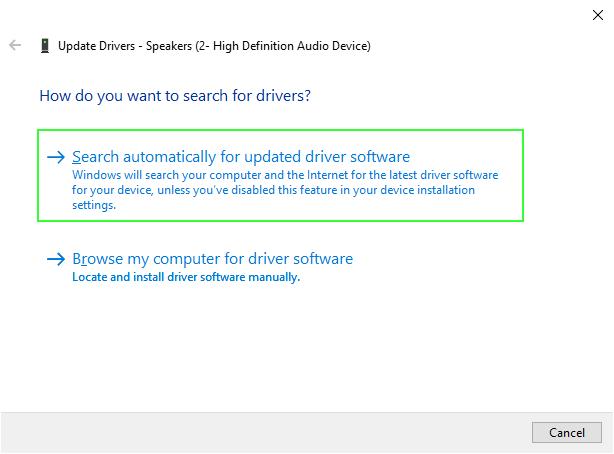 update audio drivers