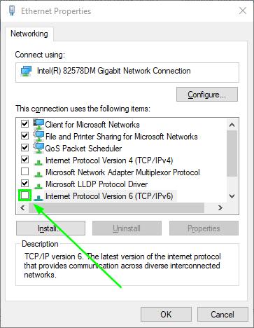 ipv6 showing no internet access
