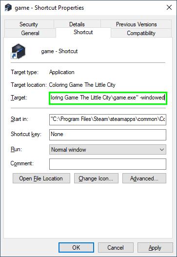 shortcut settings