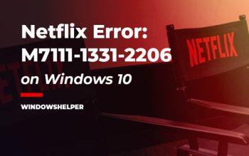 error code m7111-1331-2206