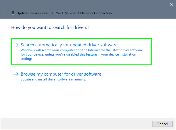 search automatically drivers