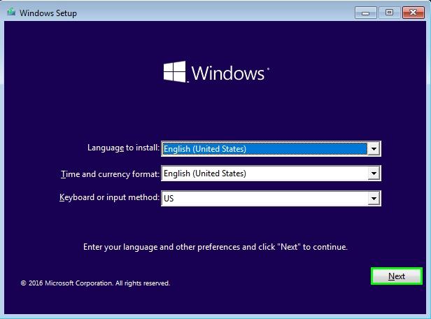 install windows 10