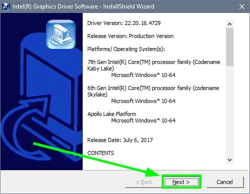 install intel graphics drivers
