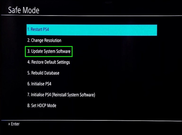 update system software ps4
