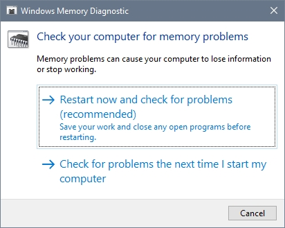 restart now and check memory problems