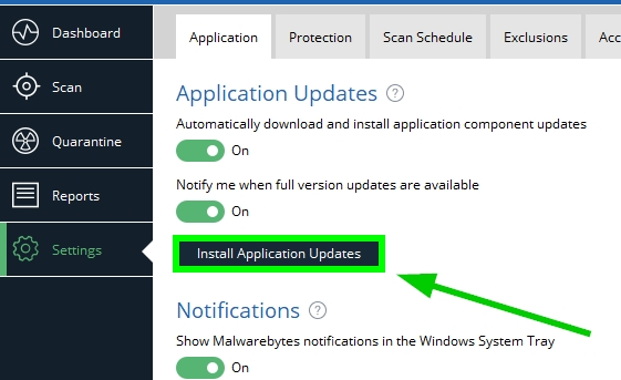 update malwarebytes
