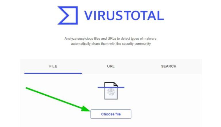 virustotal choose file