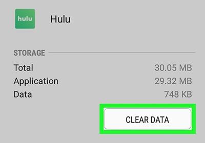 clear data hulu
