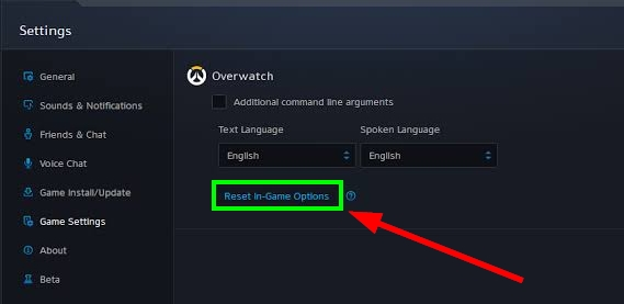 reset in-game options overwatch