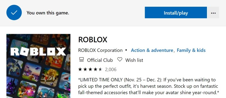 install roblox windows 10