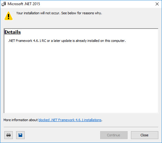 net framework already installed