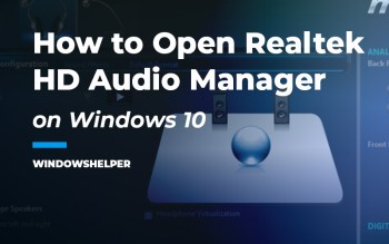 how to open realtek hd audio manager