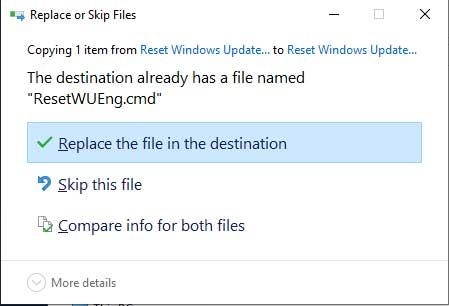 replace override file windows 10