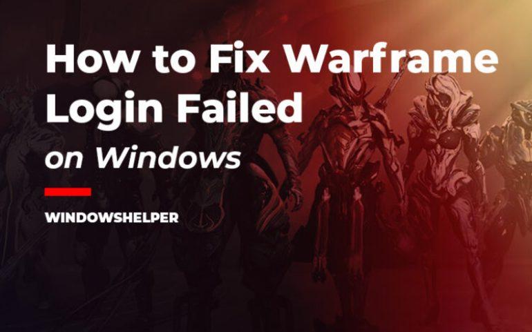 warframe login failed