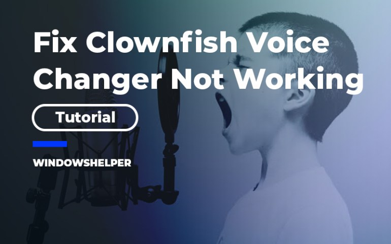 clownfish voice changer not working
