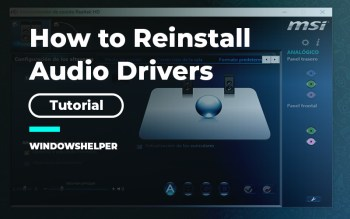how to reinstall audio drivers windows 10