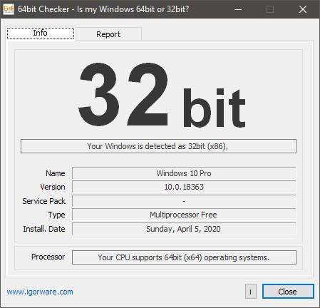 64 bit checker