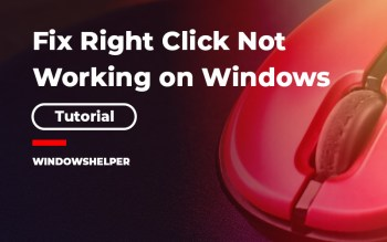 rightclick not working windows 10