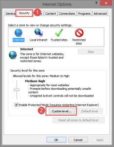 Internet Options: Security FIX: Your current security settings do not allow this file to be downloaded security