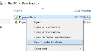 Delete Folder Contents Add an option to delete all the folder content to the Right Click Context Menu delete