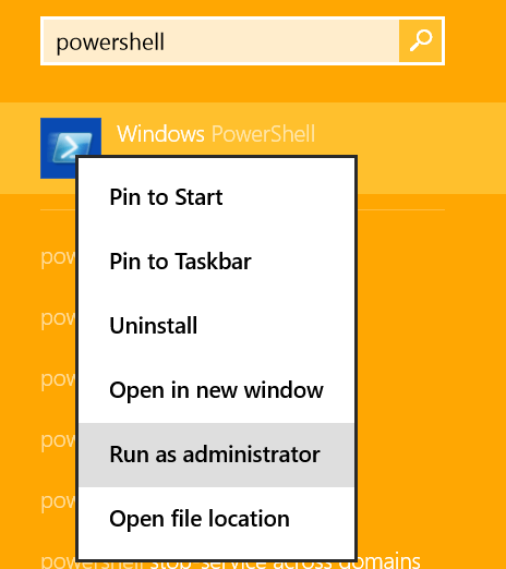 how to open powershell in windows 8
