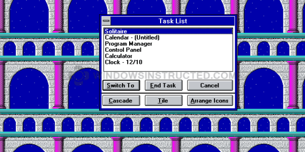 Windows 3.1 Task Manager