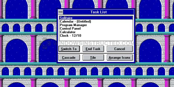 Windows 3.1 Task Manager