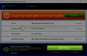 MalwareBytes: Scan Now How to Remove CrossRider