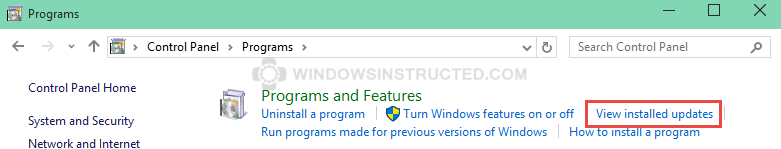 """Remove an Windows Update: View Installed Updates FIX: """"Do you want to add this search provider?"""" does not work do you want to add this search provider"""