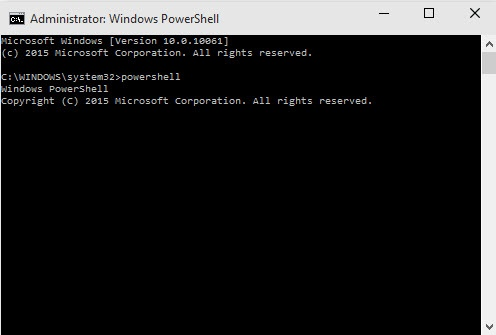 Command Prompt: Start Powershell How to Open Powershell in Windows 10 powershell in Windows 10