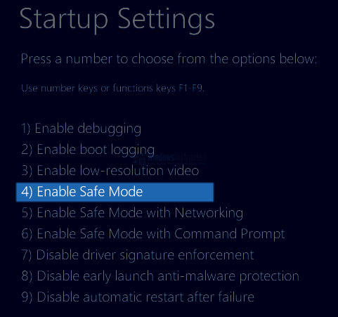 Windows 10: Enable Safe Mode How to Start Windows 10 in Safe Mode? safe mode