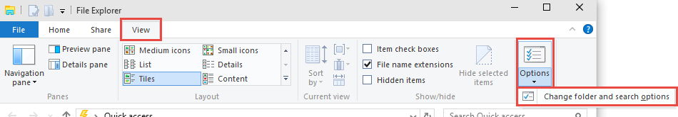 Windows 10: Folder and Search Options How to show / hide inactive drive letters from This PC hide Inactive Drive Letters