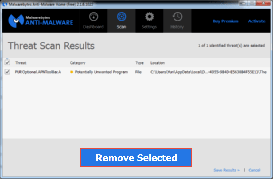 MalwareBytes: Remove Selected Removal Guide: Hello New User page and Advertisements Hello New User