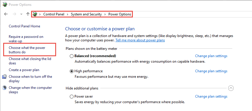 Change what the power button do How to Disable the Computer's Power Button in Windows 10 disable the computers power button