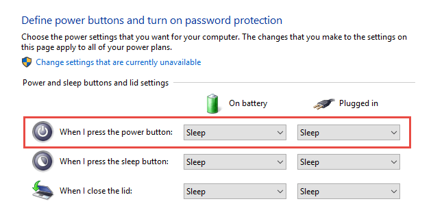 Power Button: Do Nothing How to Disable the Computer's Power Button in Windows 10 disable the computers power button