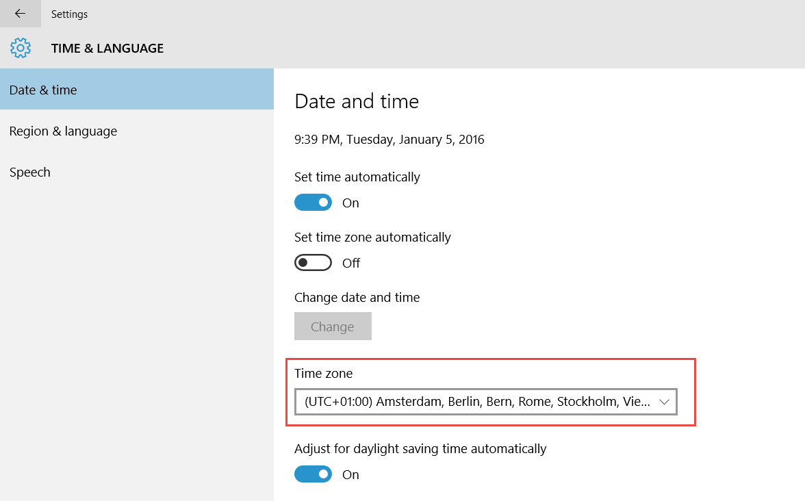 2016-01-05_21-39-40 How to Change the Time Zone in Windows 10