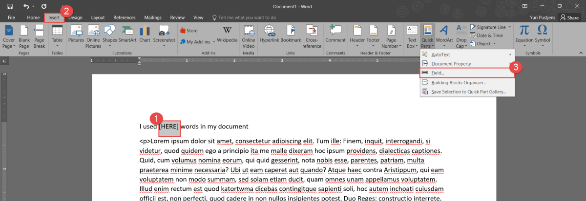 2016-01-23_0-01-48.png How do I insert the word count into my document?