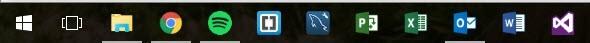 Normal Size Taskbar Icons How to change Taskbar Program Icons Size - Windows 10 taskbar