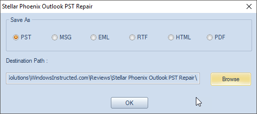 Stellar Phoenix Outlook PST Repair: Restoring corrupted PST files