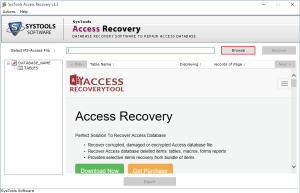 browse corrupt MDB file Safest Way to Recover Corrupt Access Database File & Deleted Records