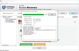 recovery starts Safest Way to Recover Corrupt Access Database File & Deleted Records