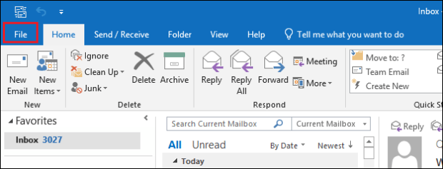 Open File tab How to Compress or Compact Archive PST File in Outlook – Advance Guide