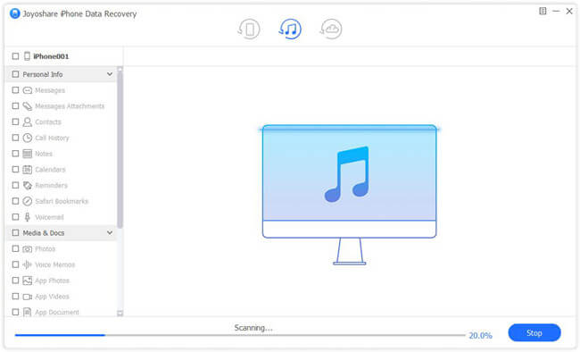 scan lost files Review: Joyoshare iPhone Data Recovery